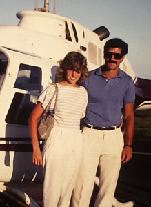 Bill & Ruth on their honeymoon in 1985