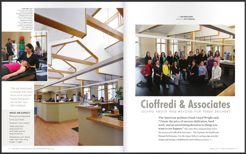 C&A Featured in Hanover Magazine 2016