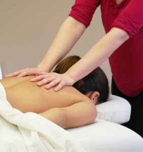 Massage Therapy Draped Table Work