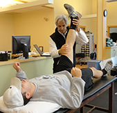 Treating athletes at all levels of competition.