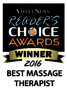 2016 Valley News Readers Choice Best Massage Therapist
