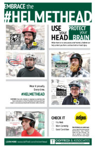 Embrace the Helmethead Poster 2017 Helmet Safety Campaign by Cioffredi & Associates