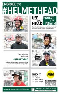 Embrace the Helmethead Poster 2017 Helmet Safety Campaign by Cioffredi & Associates