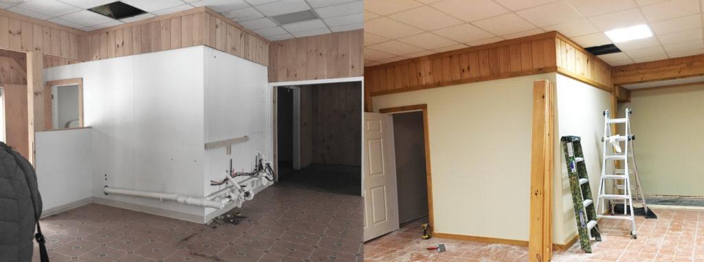 Grantham Divider Wall Progress